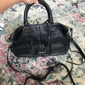 Rebecca minkoff black leather crossbody bag
